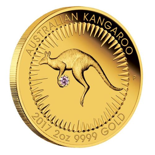 Coins Australia Australian Kangaroo 2017 2oz Gold Proof