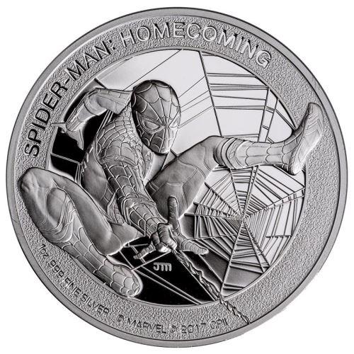 Coins Australia Spider Man Homecoming 2017 1oz Silver