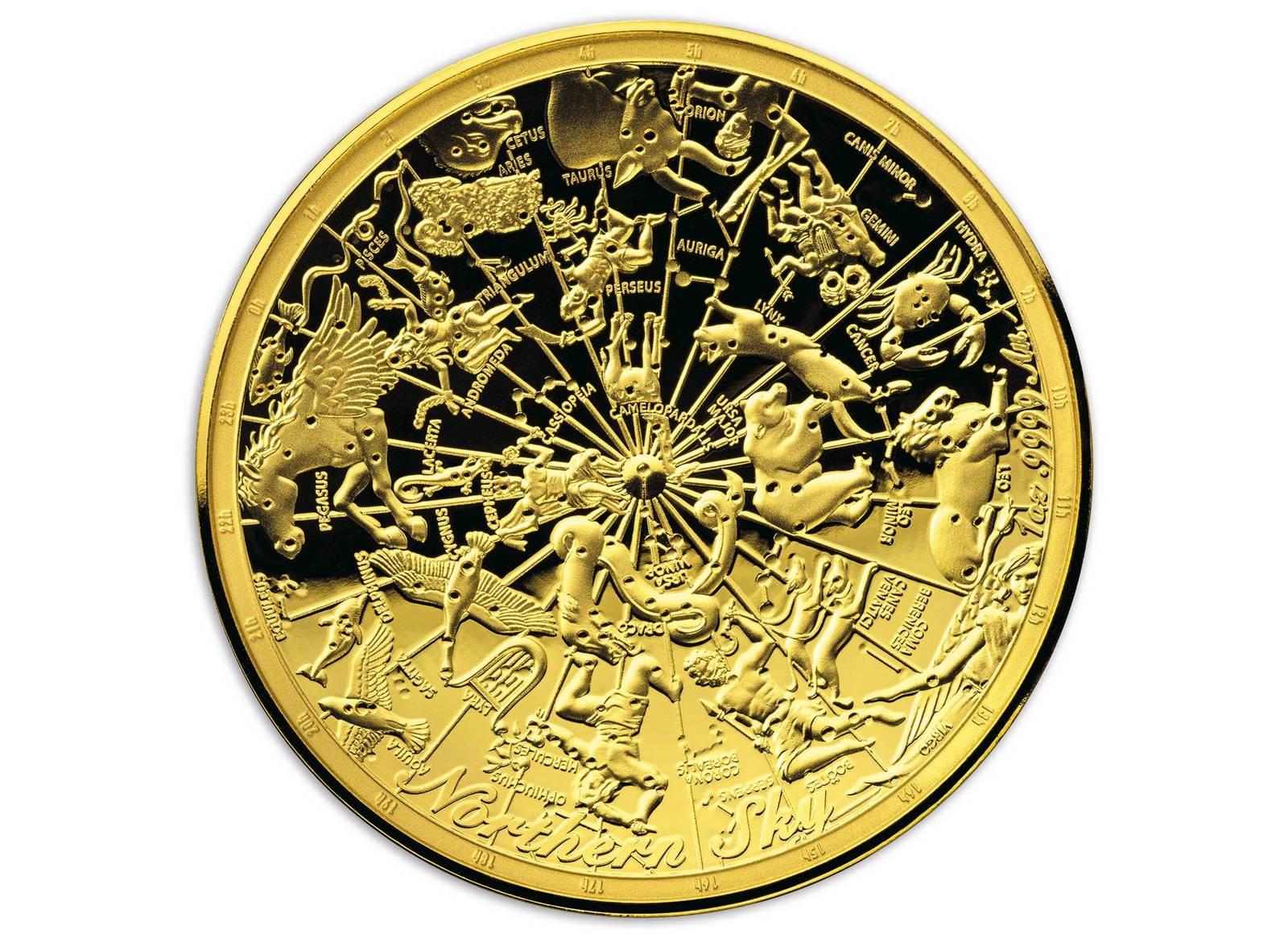 Coins Australia 2017 Celestial Dome Northern Sky Gold Coin