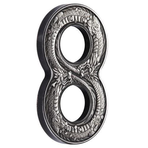 Coins Australia 2018 Figure Eight Dragon 2oz Silver