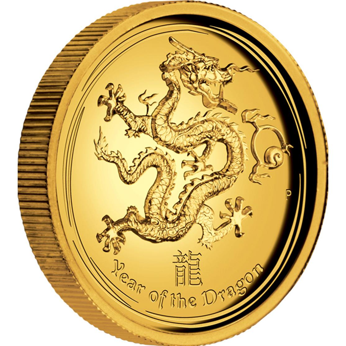 Coins Australia Year The Dragon Gold Proof
