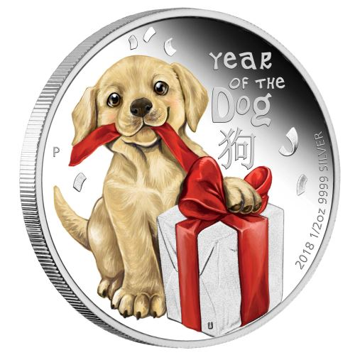 Coins Australia 2018 Baby Dog 1 2oz Silver Proof Coin