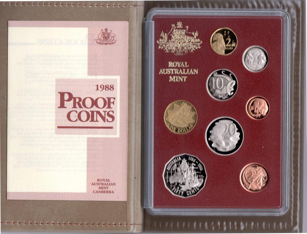Coins Australia 1988 Australian Coin Proof Set