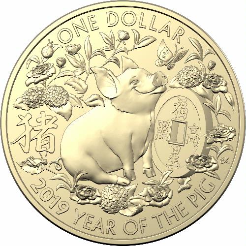 Coins Australia 2019 1 Albr Lunar Calendar Year Of The Pig 3 Coin Set