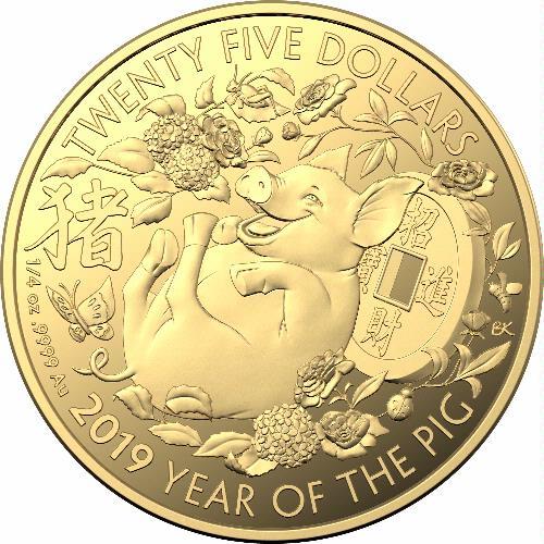 Coins Australia 2019 25 Gold Coin Lunar Calendar Year Of The Pig