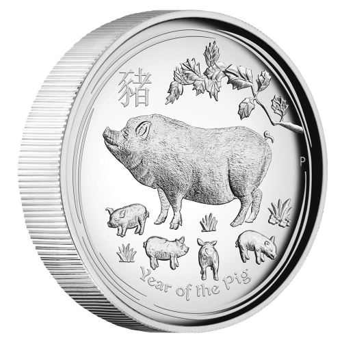 Coins Australia 2019 Year Of The Pig 1oz Silver Proof