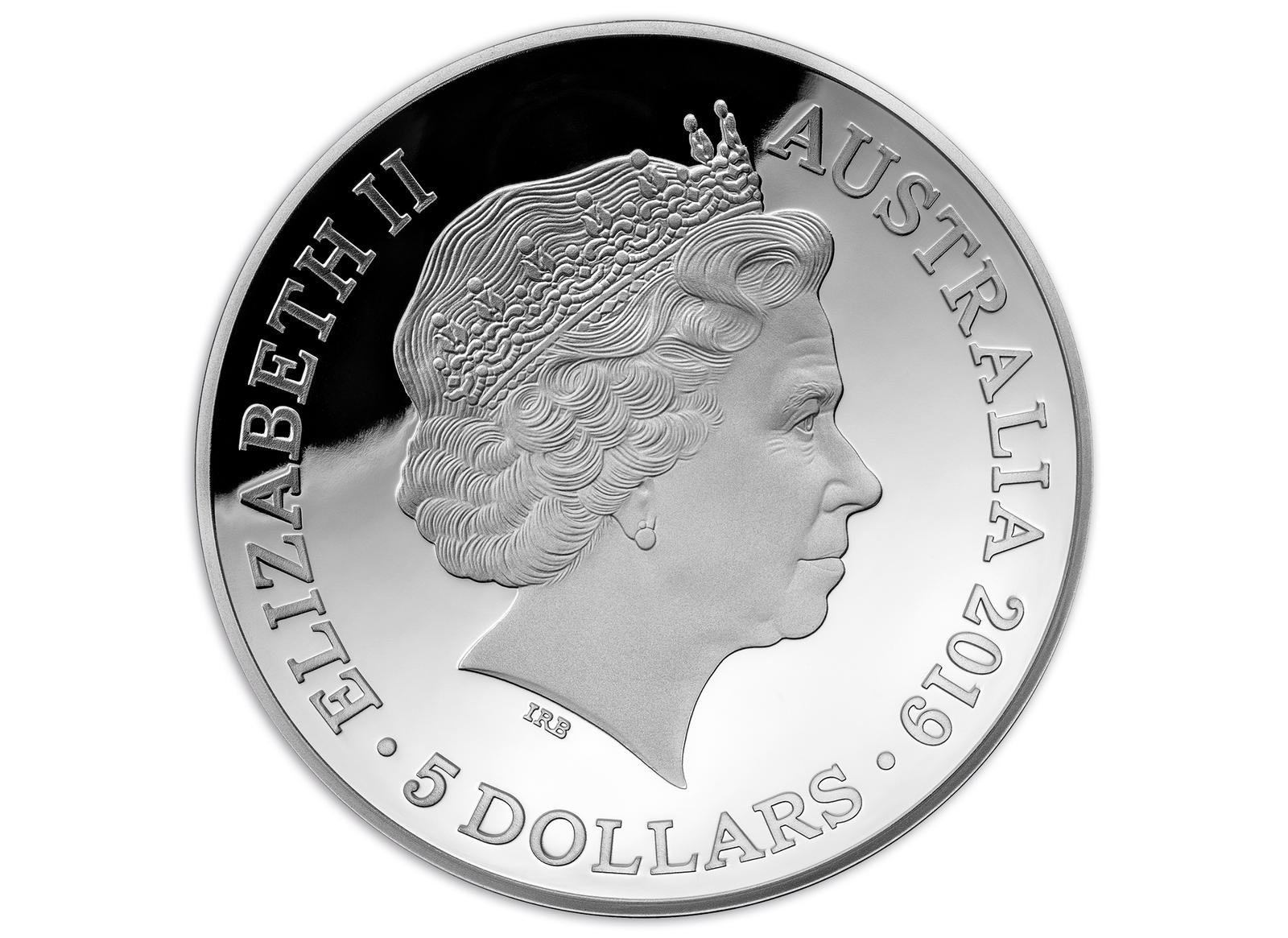 Coins Australia - 2019 $5 1oz Fine Silver Proof 1812 A New