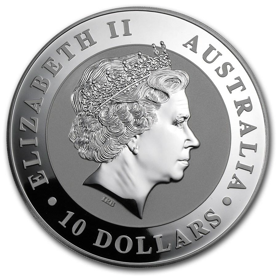Coins Australia 2012 Australia 10 Oz Silver Kookaburra Bu