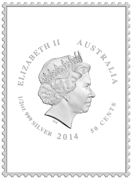 Coins Australia 2014 Kinggeorgev Centenary Of Stamps 1
