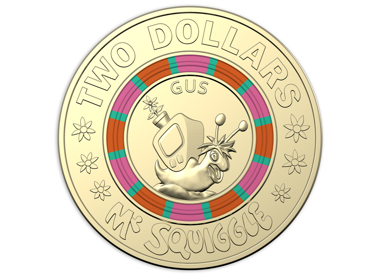 2019 Mr Squiggle and Friends 60th Anniversary 7 coin collection.