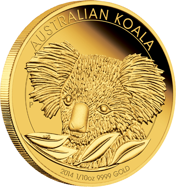Coins Australia 2014 Australian Koala 1 10oz Gold Proof Coin