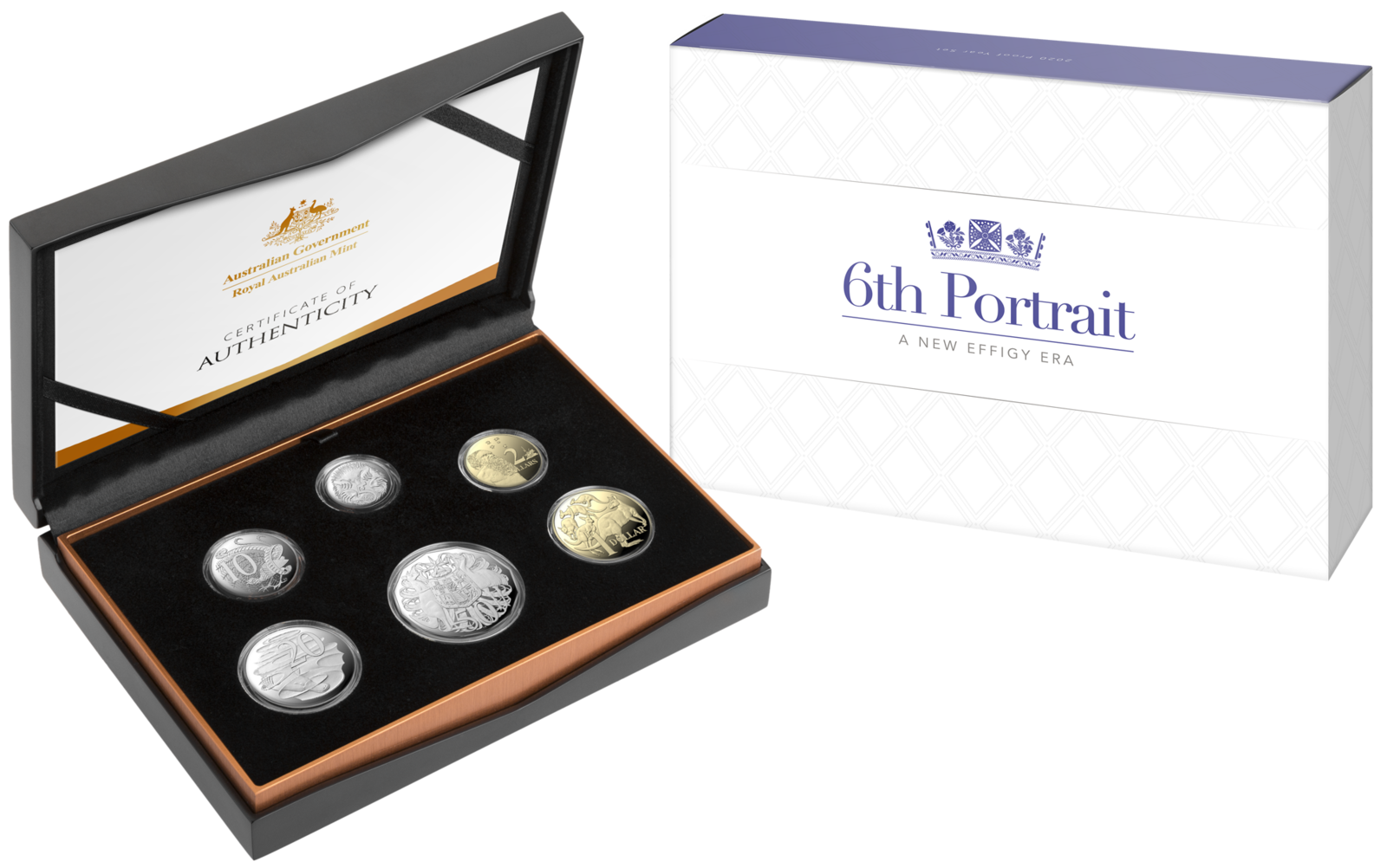 6th Portrait Six Coin Proof Year Set 2020 A New Effigy Era