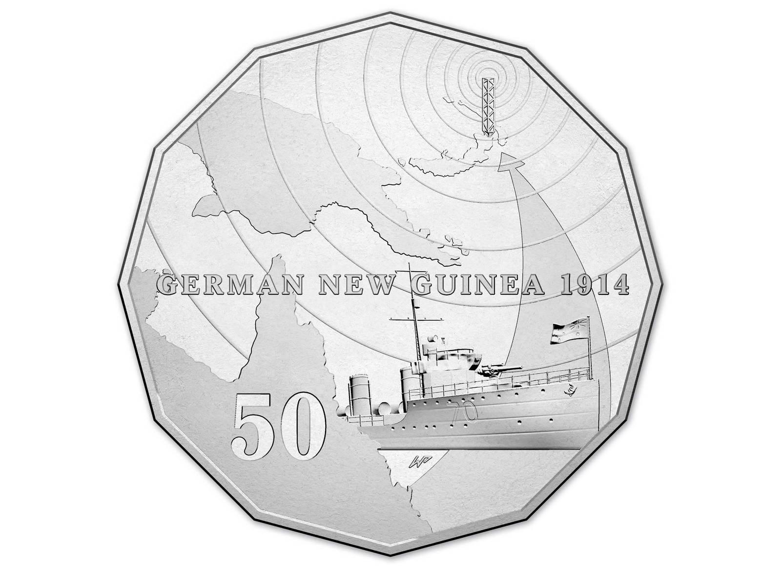 2014 Australia at War Series German New Guinea 1914-50c Coin