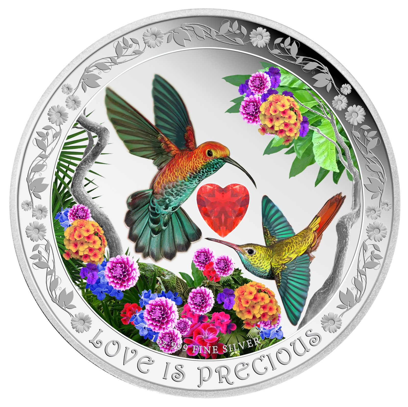 Coins Australia 2016 Love Is Precious Hummingbirds 1