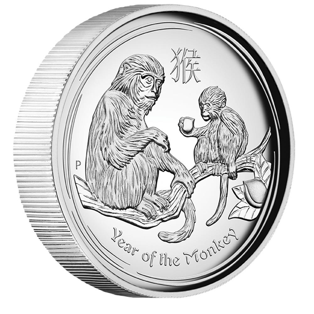 Australia 2016 year of the monkey 1oz silver proof high relief coin