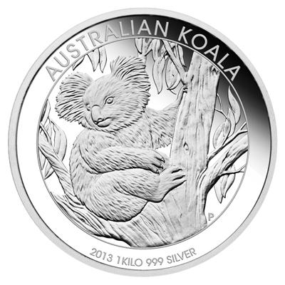 Coins Australia 2013 Australian Koala 1 Kilo Silver