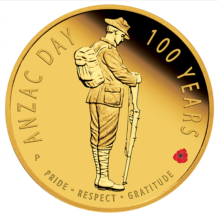 Coins Australia 2016 Anzac Spirit Anzac Day 100 Years