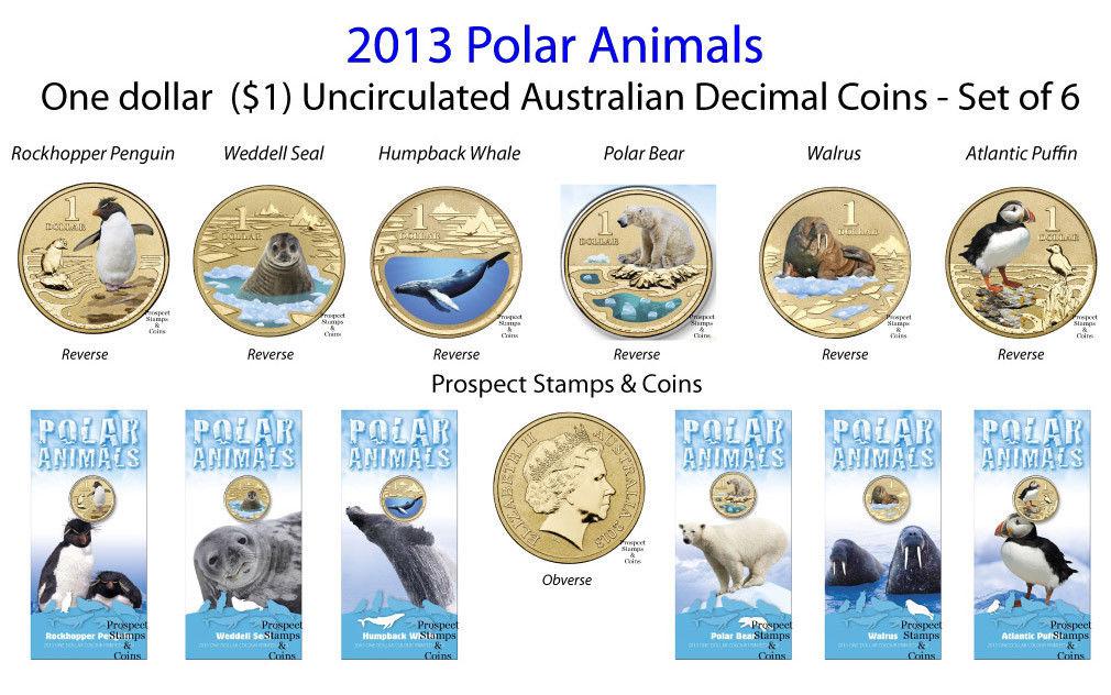 Coins Australia 2013 Polar Animal Series Set Of 6