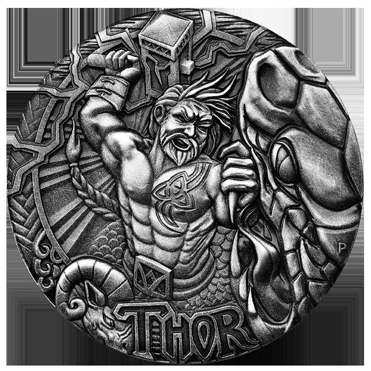Coins Australia - 2016 NORSE GODS – THOR 2oz SILVER HIGH ...