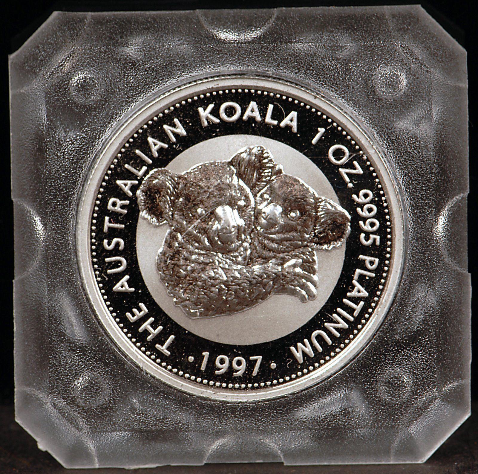 Coins Australia 1997 Perth Mint 1oz Platinum Koala Coin