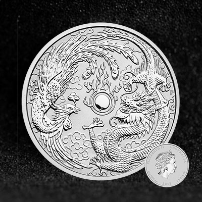 Coins Australia 2017 1oz Silver Bullion Coin Dragon And