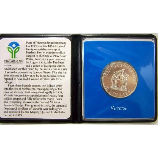Coins Australia 1985 10 Silver State Series